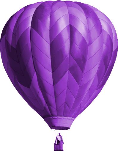 Purple hot air balloon