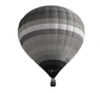 Grey hot air balloon