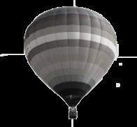 Grey hot air balloon