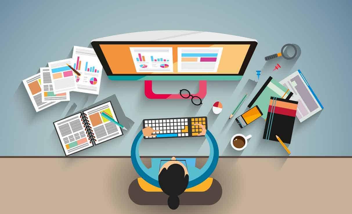 website designer at console